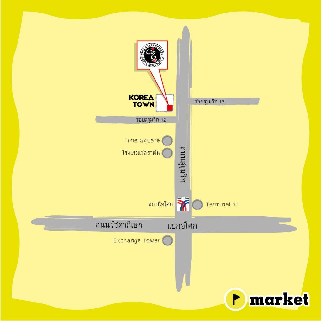 แผนที่ Choongman Chicken (Map)